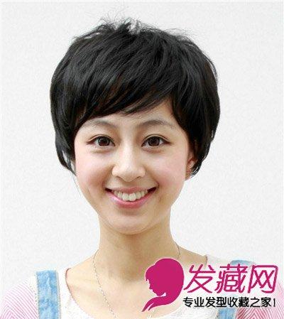 发型网 脸型发型 圆脸适合发型 > 俏丽气质的卷发搭配圆圆的脸型 时尚图片