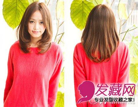 微卷发中分中长发发型 非常甜美清纯(4)图片