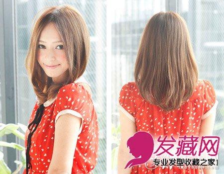 微卷发中分中长发发型 非常甜美清纯(5)图片