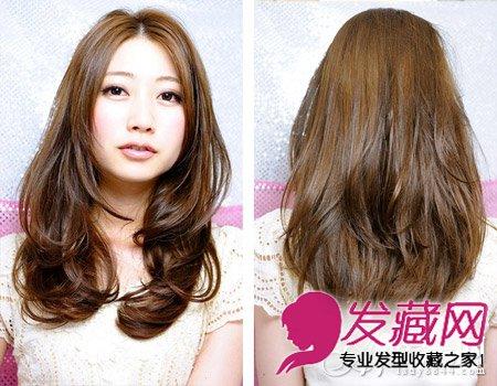【图】微卷发中分中长发发型