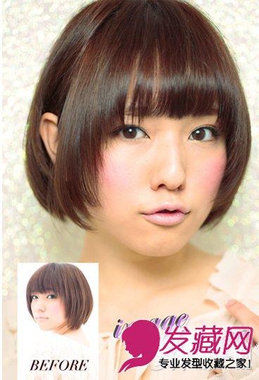 方脸适合的发型图片 速变上镜小脸(3)图片