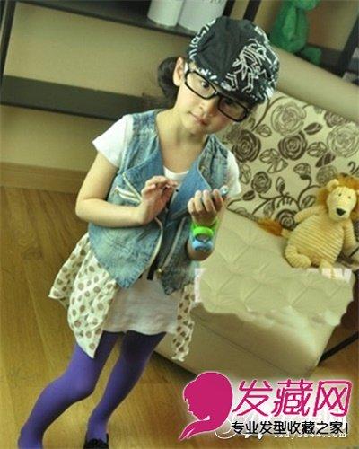 卖萌小姑娘发型 清新盘发显可爱(8)