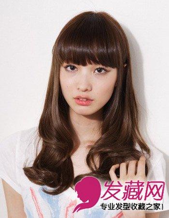 齐刘海发型图片 女生齐刘海发型设计大全(3)图片