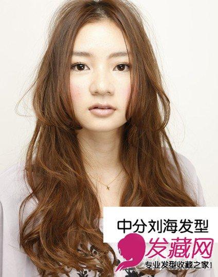 中分蓬松v动漫动漫头像发型系染发颜色(5)手绘时尚森女系棕色图片