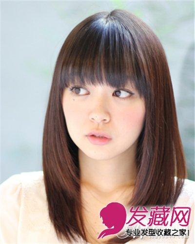 圆脸中长发发型 圆脸 梨花头小脸美人(3)