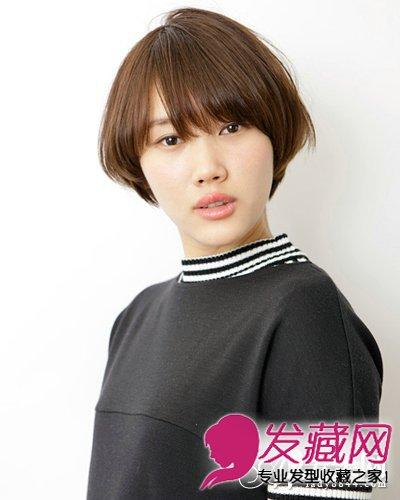 稍显可爱的短发发型,齐刘海做出
