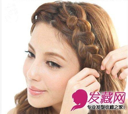 中分卷发发型 中分卷发编发有气质(9)