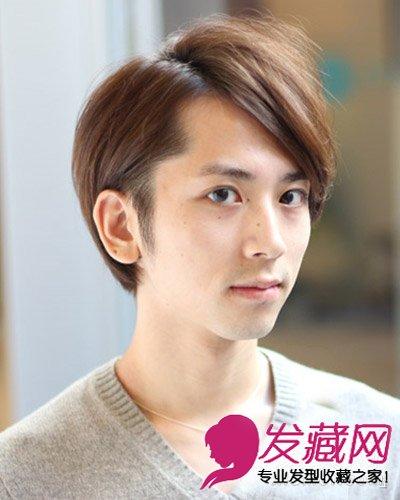 2015酒红色斜刘海卷发 染发颜色参考大全(5)