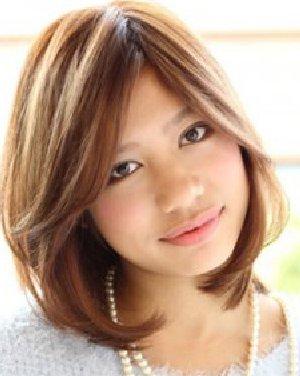 头发少适合什么发型 斜分刘海内扣梨花头图片