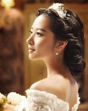 韩式新娘发型图片设计 展现别样女生气质