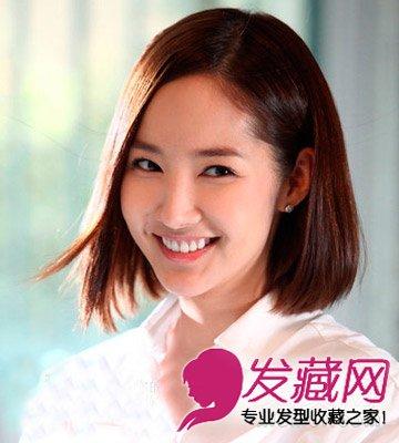2015女生短发推荐 轻薄的齐刘海突出大眼睛(5)图片