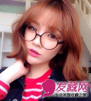 2015女生短发推荐 轻薄的齐刘海突出大眼睛(7)图片