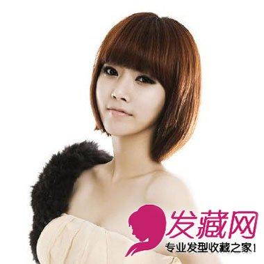 圆脸适合什么短发 韩式侧分中短发发型 →高俊熙 长发vs短发发型