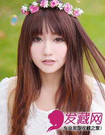 发型网 脸型发型 圆脸适合发型 > 圆脸妹必修9款韩式卷发 女生肉肉的