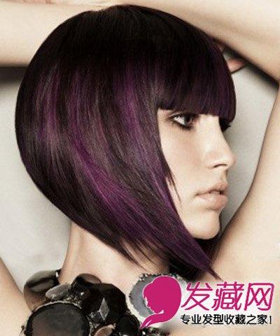适合长脸的短发发型style8:这款短发发型是荷叶设计,将脸颊两侧