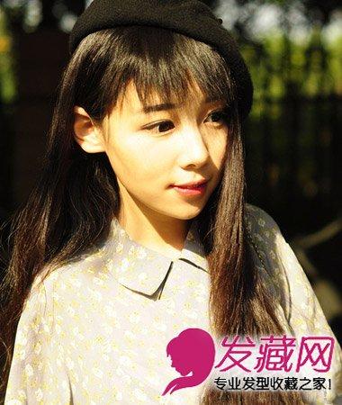 短发发型 > 圆脸适合直发发型图片 直发甜美女生发型(8)  导读:斜刘海图片