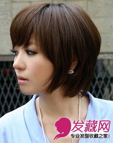 脸大适合什么发型 带点韩式可爱风情中短发造型(4)