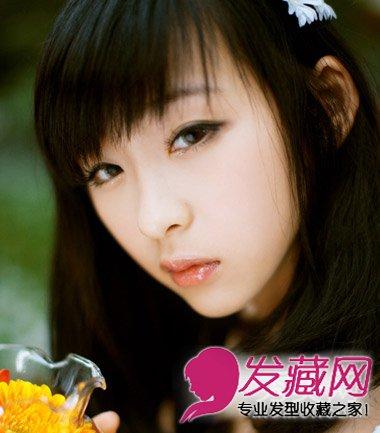 【图】大脸女生适合的刘海发型图片