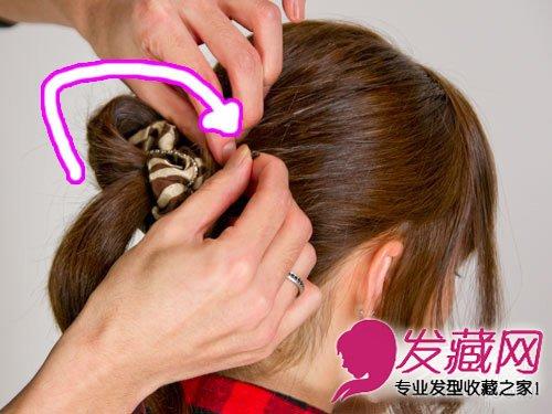 花苞头扎法图解 秋冬简单扎发造型(5)