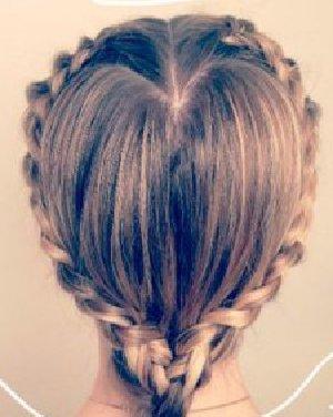 【心形编发】_最新心形编发发型图片大全_发型怎么扎