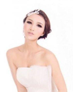 简约新娘发型图片 当最美的新娘