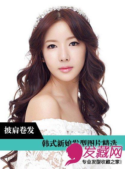 韩式婚纱照新娘发型 棕色卷发采用螺旋烫设计(3)