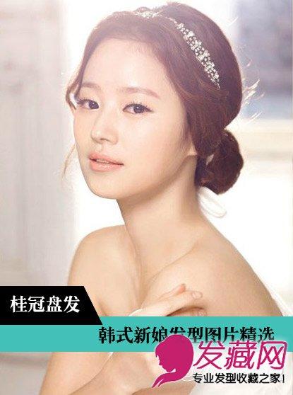韩式婚纱照新娘发型 棕色卷发采用螺旋烫设计(15)图片