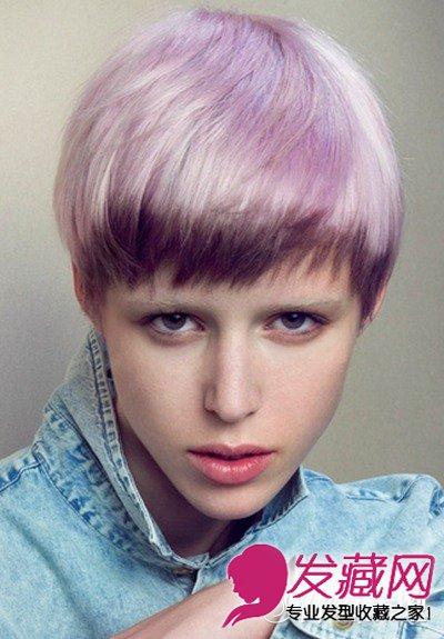 新潮女生不规则另类短发发型 另类惹眼显魅力(7)