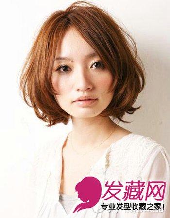 亚麻色的短发梨花头发型 甜美早春发型 6图片