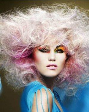爆炸头发型设计 凌乱风更显个性