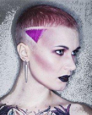 个性短发发型 女生子弹头发型彰显彩色绚丽风