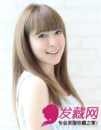 女生圆脸适合的发型图片设计 百变刘海超显瘦(9)