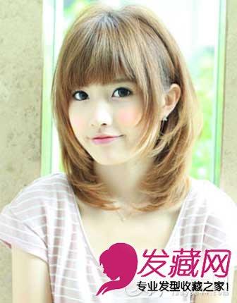 女生圆脸适合的发型图片设计 百变刘海超显瘦(4)图片