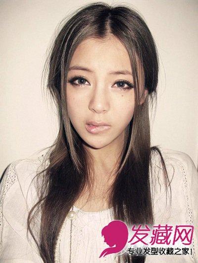 > 唯美韩国女生发型 齐刘海芭比烫发型(8)  导读:性感中分长发 所有