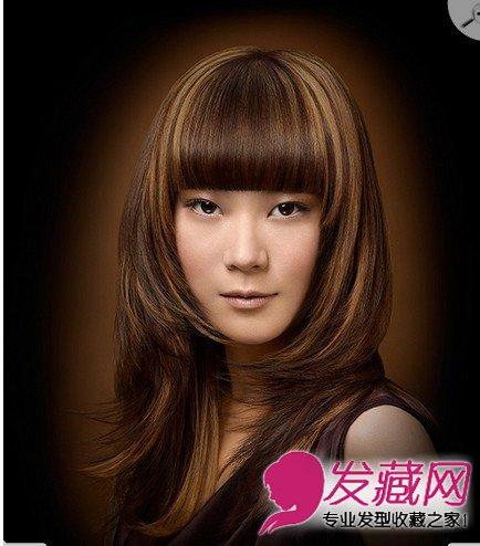 个性十足 齐刘海直发发型图片(6)图片