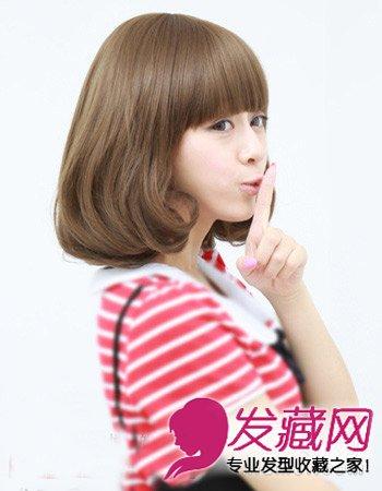 中长发烫什么发型好看 斜刘海短发梨花头(9)图片