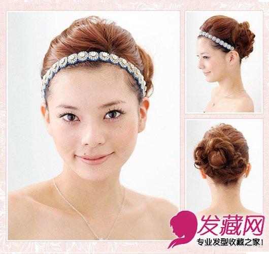 长卷发怎么扎好看 干净利落的麻花编发型(8)图片