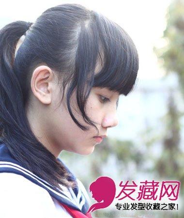 最百搭时尚的丸子头扎发髻 甜美可爱校花范(8)