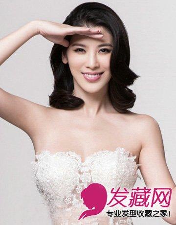 2015最美新娘发型 披肩发婚纱下最浪漫(5)图片