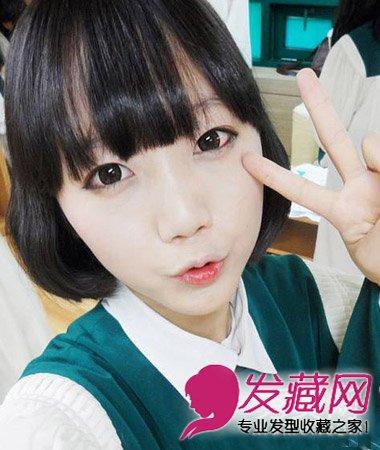 学生丸子头发髻扎发 清纯甜美萝莉范(2)  导读:日系风俏皮波波头 短发