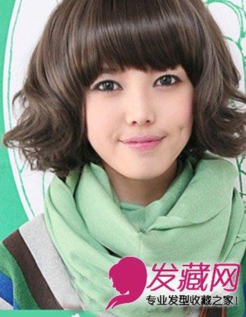 > 2015流行短发发型图片 蛋卷头短发更有层次(4)  导读:齐刘海短发图片