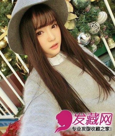 > 齐刘海怎么弄好看 韩式发型搭配齐刘海发型(7)  导读:齐刘海长 直发图片