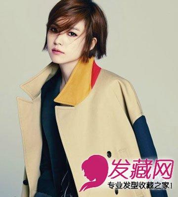 气质短发推荐 时尚干练女生背头发型(2)图片