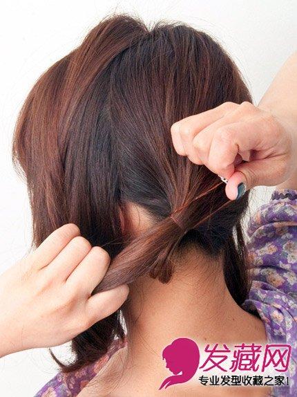 →实用辫子发型扎法图解