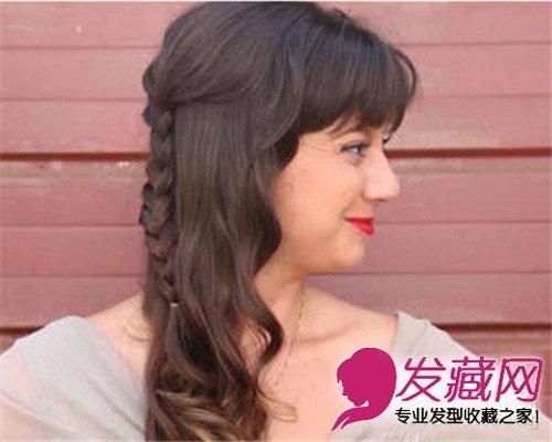中长发扎法图解大全 甜美编发 气质盘发发型(4)