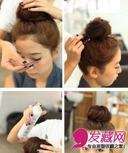 短发怎么扎丸子头 时尚丸子头简单扎发发型(7)