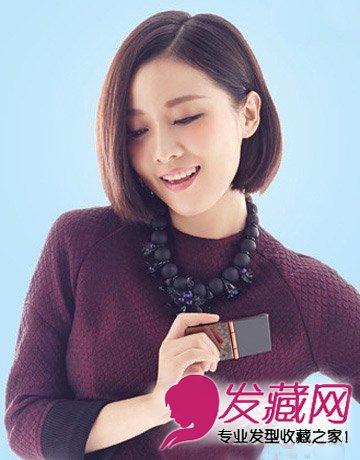 最新女生发型设计 紫色的斜肩礼服更显优雅高贵(2)