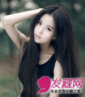 森女系的长发发型 中分巧露瓜子脸 →女生偏分中长发发型 9款胖女孩