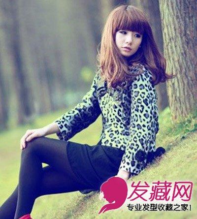 > 齐刘海长卷发发型 超级可爱的非主流发型(5)  导读:齐刘海自然长发