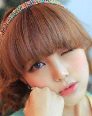 胖圆脸女生最爱 最俏皮可爱的韩式齐刘海发型